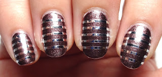 Silver Striped Nails