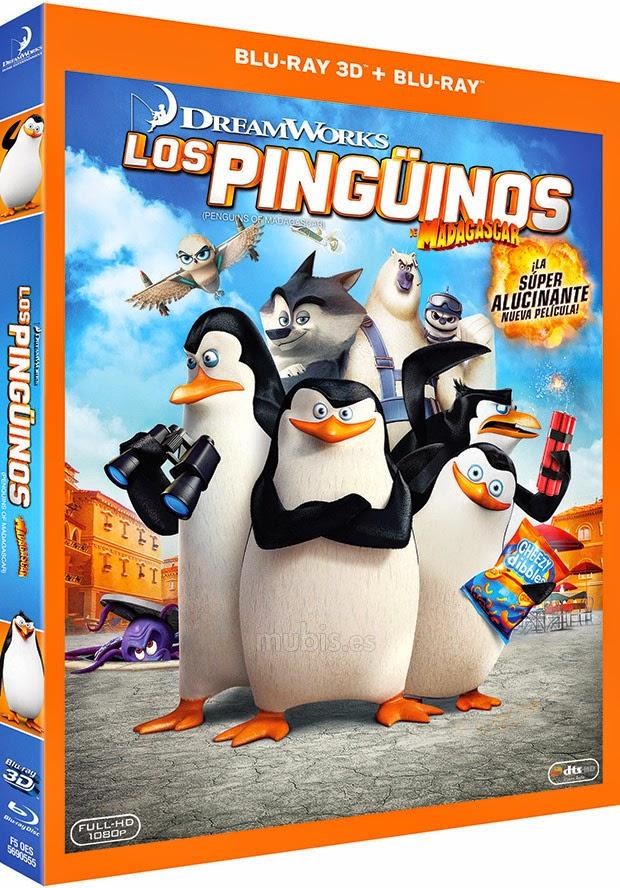 Los Pingüinos De Madagascar (2014) Bluray Cover Caratula