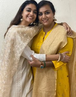 Keerthy Suresh with Cute and Awesome Lovely Smile wishing Happy Birthday to her Akka Revathy Suresh