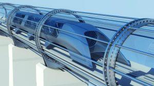 Hyperloop konsepnya mirip kereta api bedanya Hyperloop menggunakan tabung sebagai pengganti rel