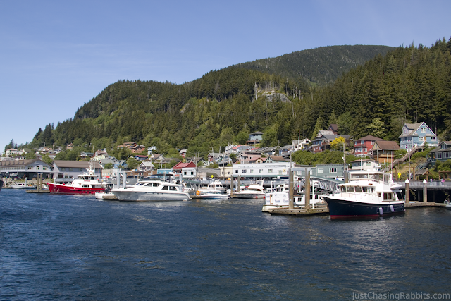 The gorgeous port and town of Ketchikan.