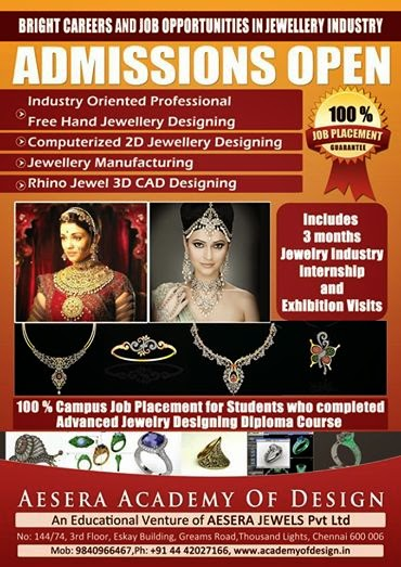 Chennai Online Jewellery 3d Cad Design Training Institute Courses Weekend Classes Matrix Rhino Fashion Bead Jewelry Making Jobs Academy Of Jewellery Designing Training Institute