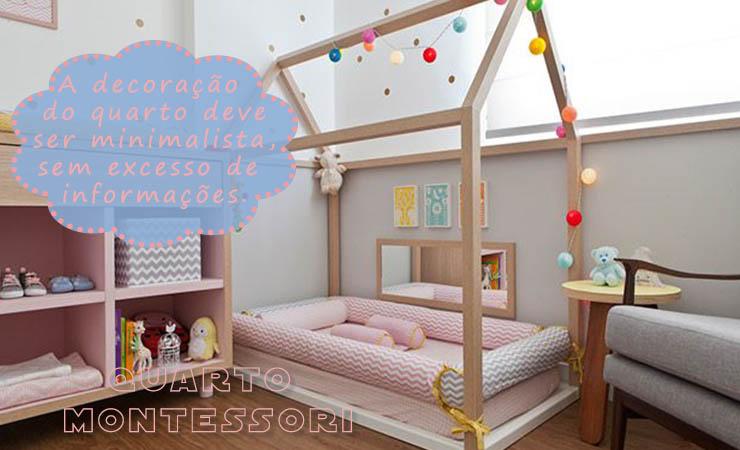 Decoração de quarto para meninas, estilo Montessori.