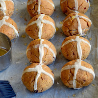 Hot cross buns saudáveis