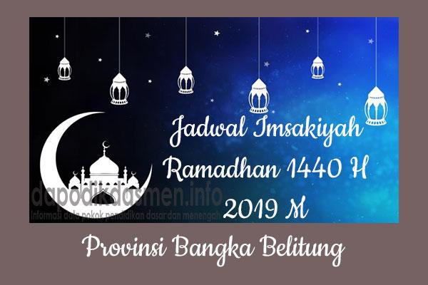 Jadwal Imsakiyah Ramadhan Provinsi Bangka Belitung
