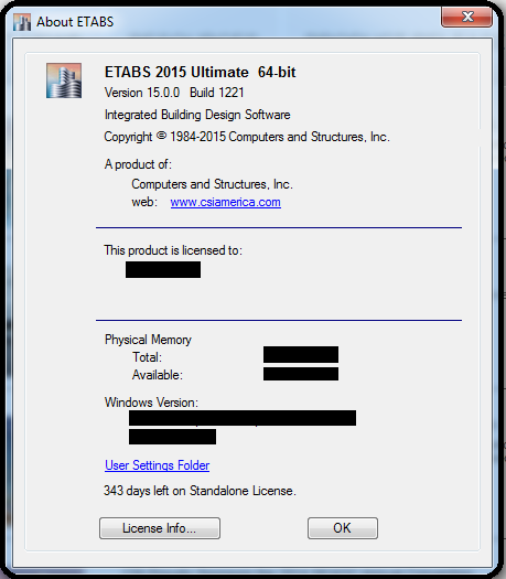 Etabs 2016 activation key for standalone license