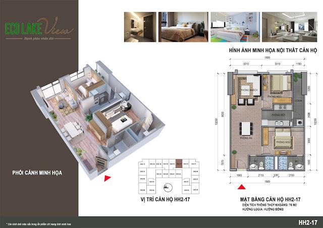 Thiết kế căn hộ 17 tòa HH-02 Eco Lake View