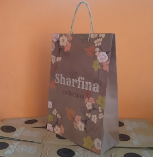 paper bag motif bunga custom