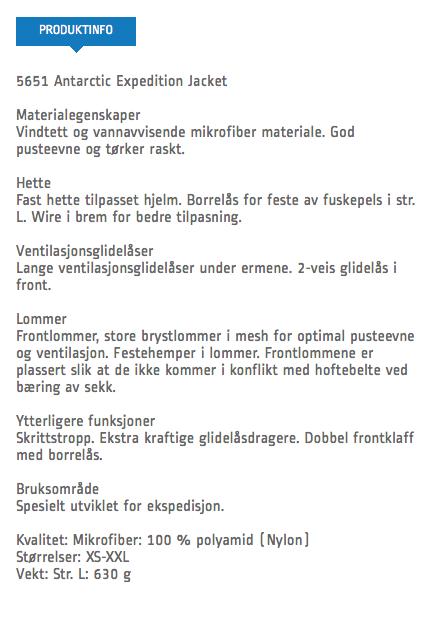 gammel norrøna anorakk