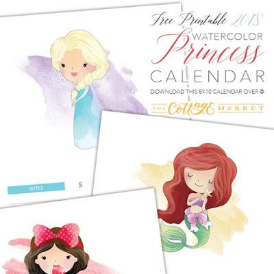 2018 princess calendar