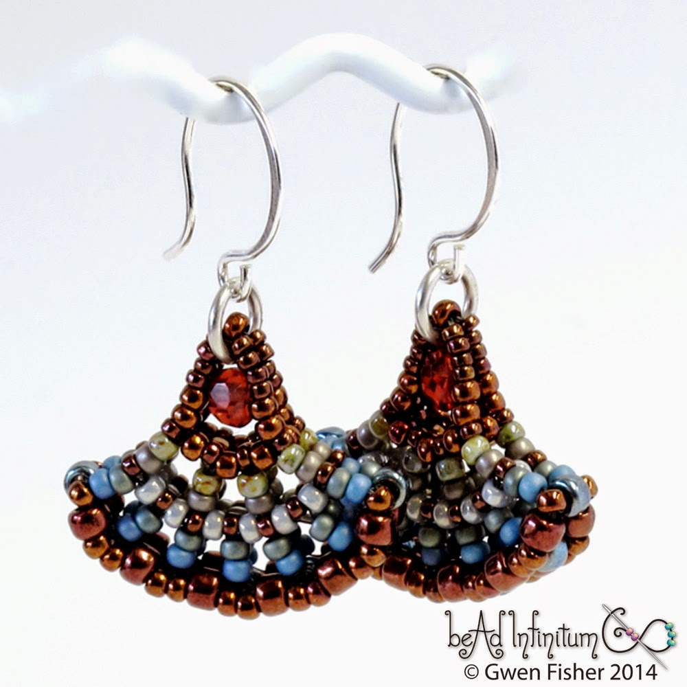 Marsala Ginkgo Earrings