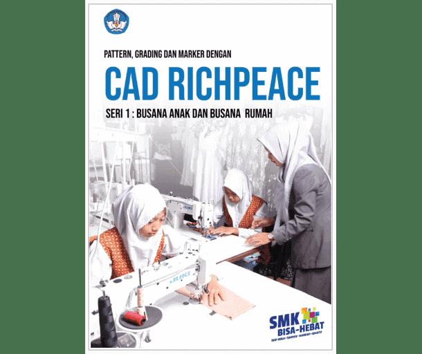 Buku SMK Pattern, Grading dan Marker dengan CAD Richpeace Seri 1 Busana Anak dan Busana Rumah
