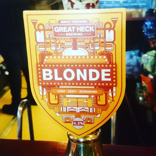 Yorkshire Craft Beer Review: Blonde from Great Heck Brewing real ale pump clip