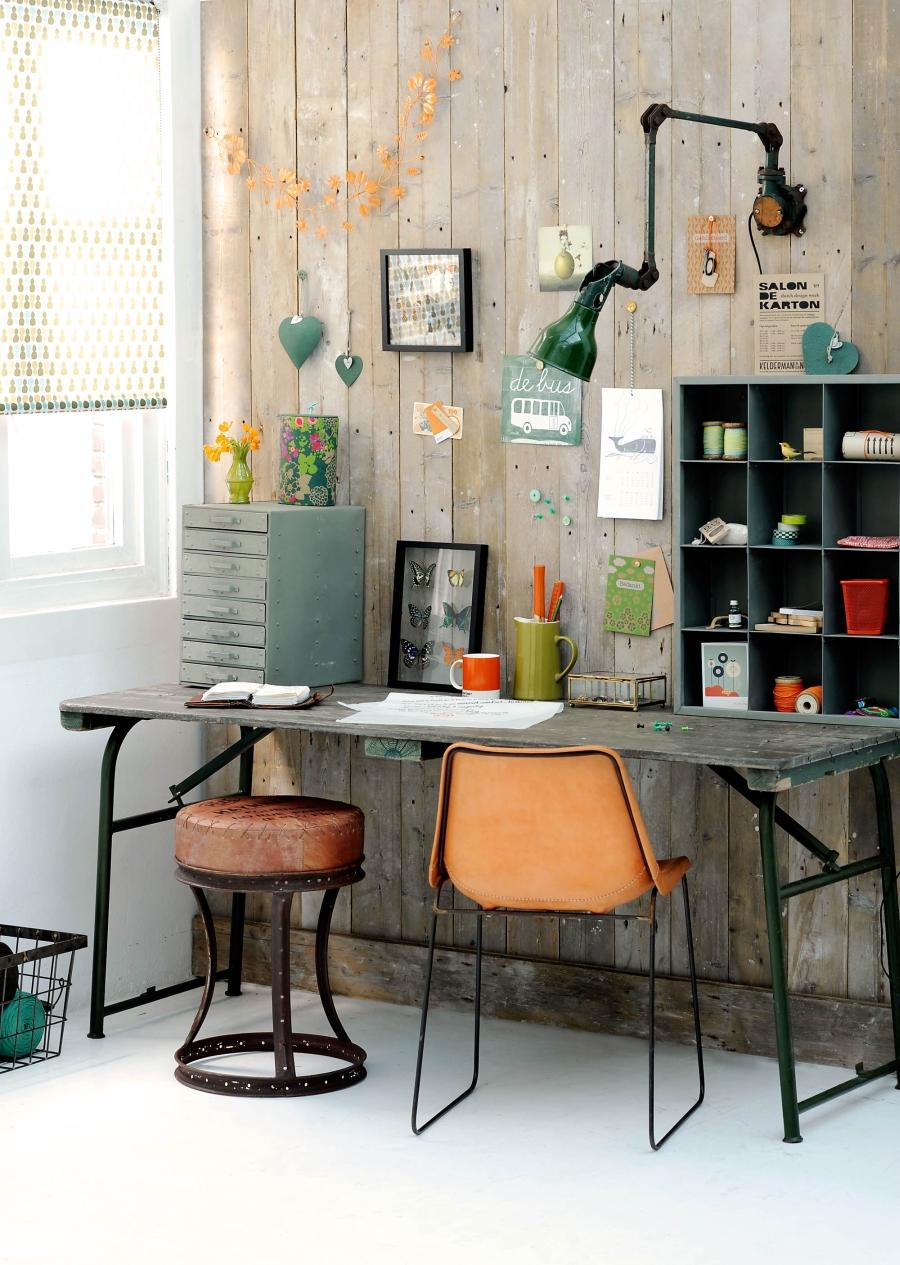 10 pomysłów na miejsce do pracy, biurko, desk, home office ideas