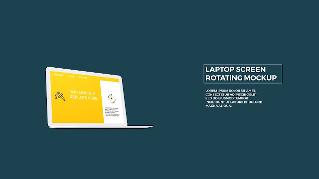 Free PowerPoint Template with Rotating Laptop Screen Mockup Slide 3