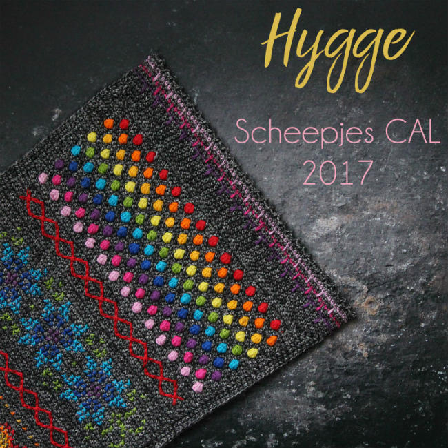 Scheepjes CAL 2017 - Hygge rainbow (photo Scheepjes) | Happy in Red