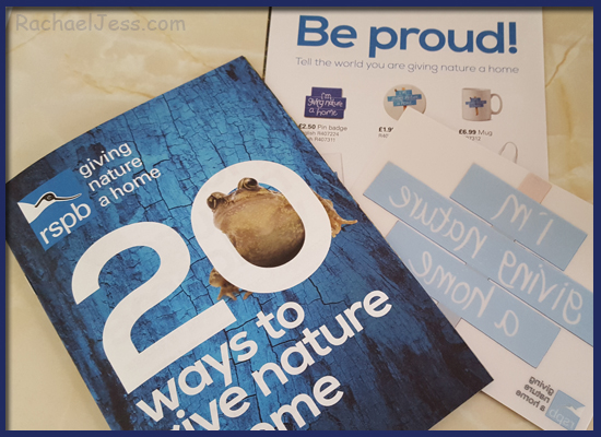 using RSPB giving nature a home booklets