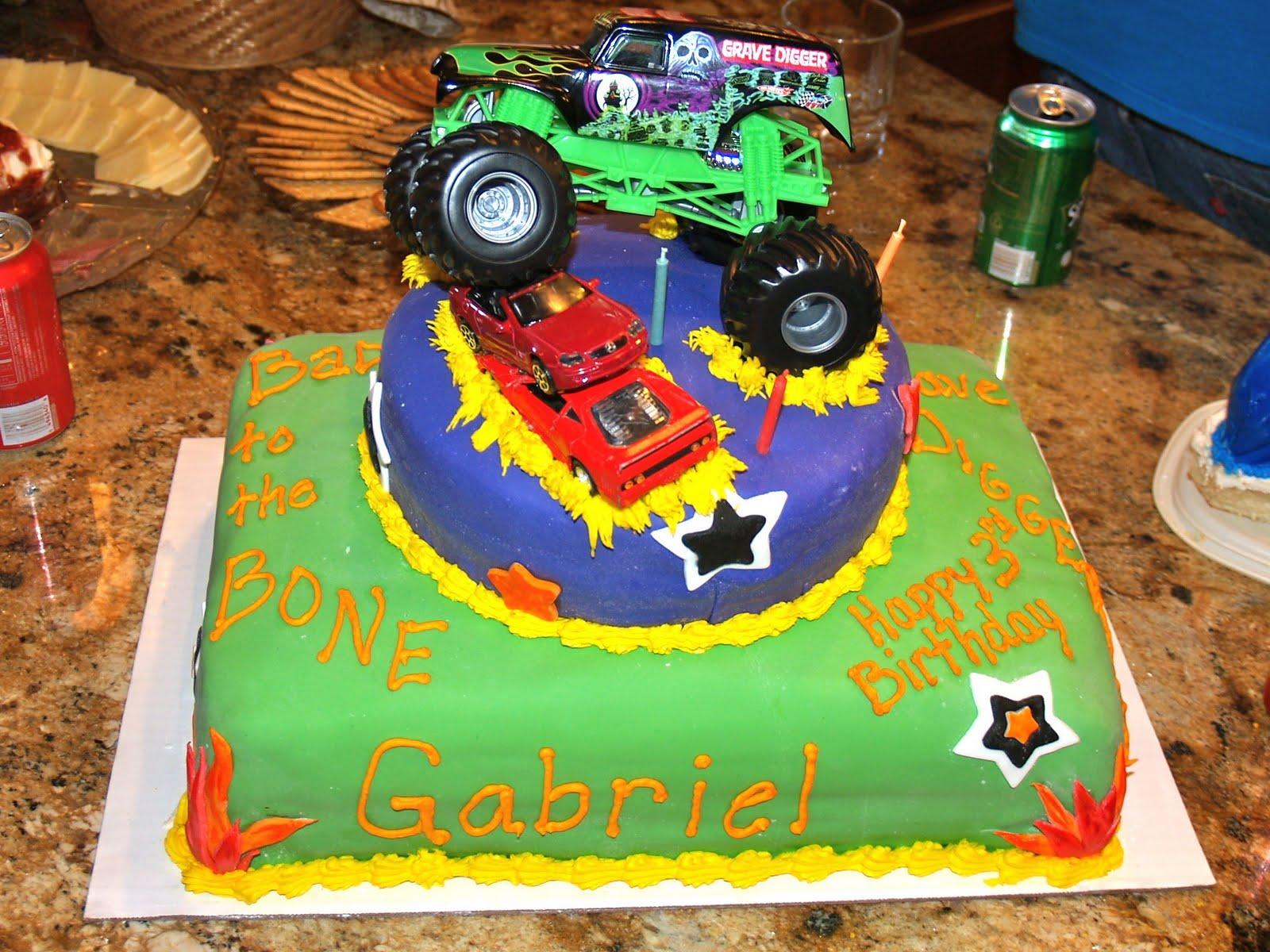 Baking Memories Monster Truck Birthday Cake