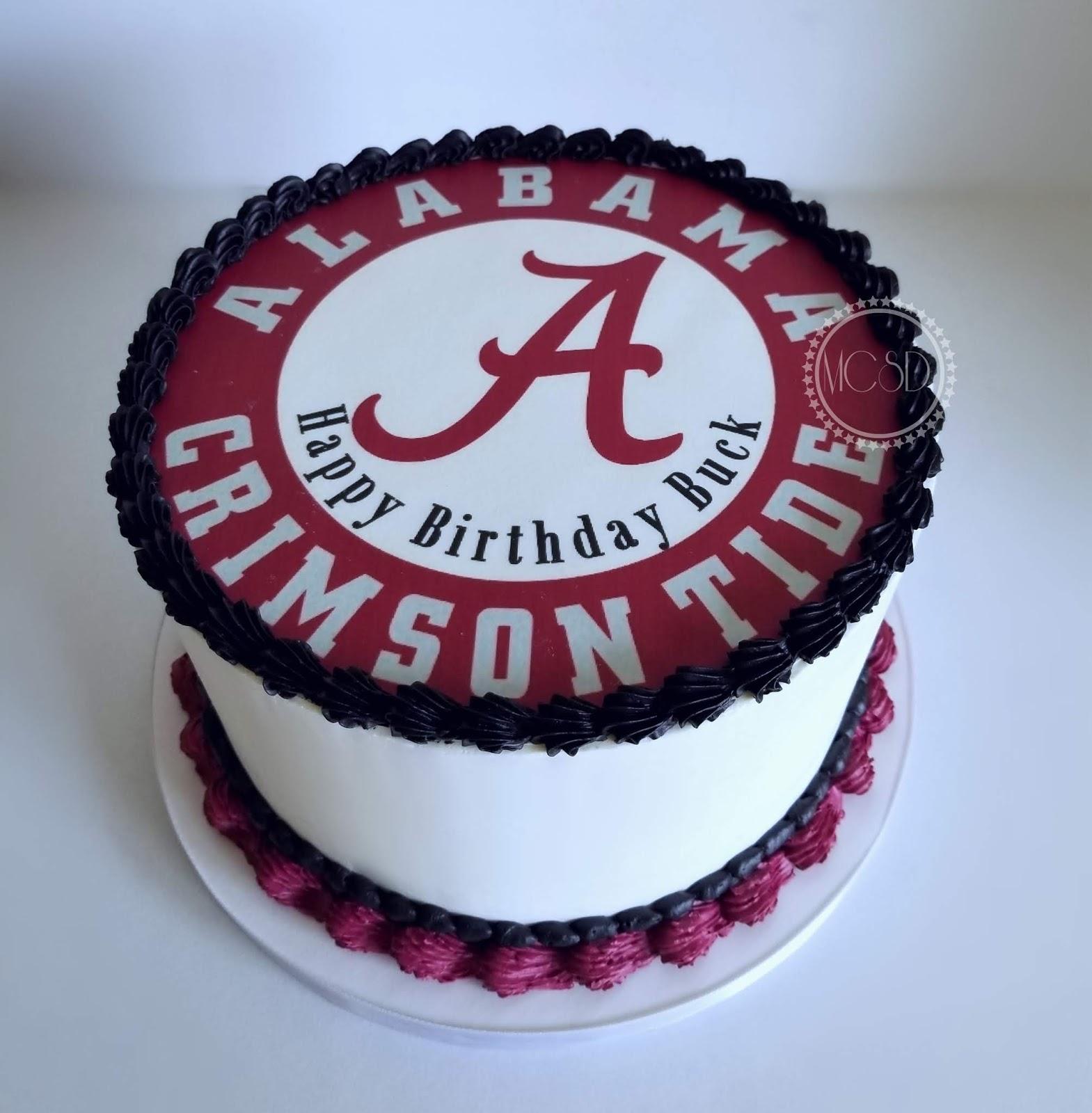 Marvelous Cakesbyzana Alabama Crimson Tide Cake Personalised Birthday Cards Veneteletsinfo