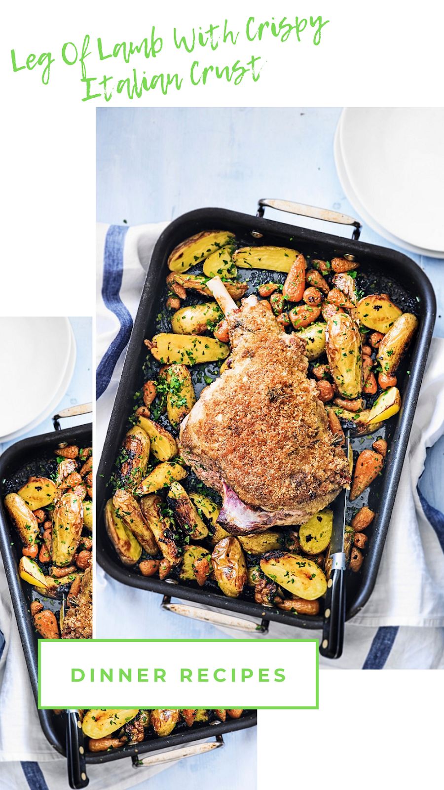 Leg Of Lamb With Crispy Italian Crust