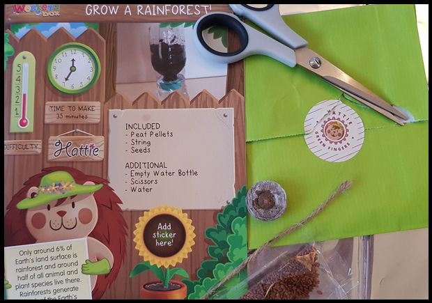 Adding seeds to a weekend box gives the children a lasting craft