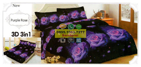 Sprei Lady Rose Purple Rose