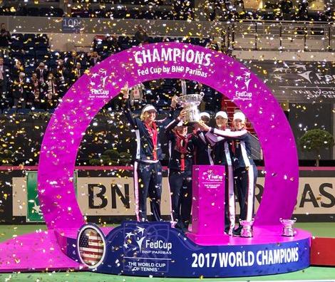 fed cup final 2017, champion, winner team usa,