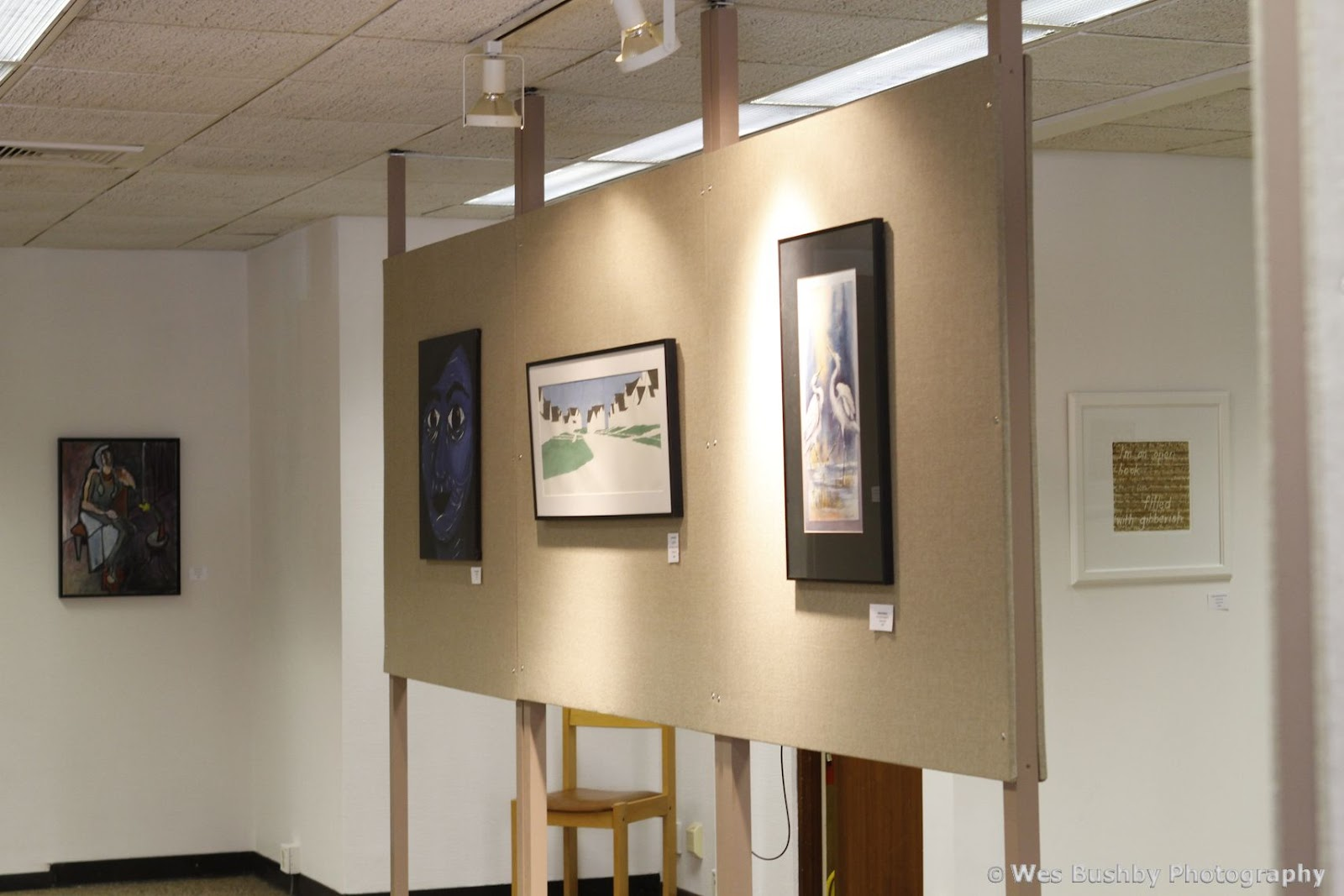 On special occasions, I have been told, the bank will have longer hours to accommodate the art center. Here are some photos that I took inside .