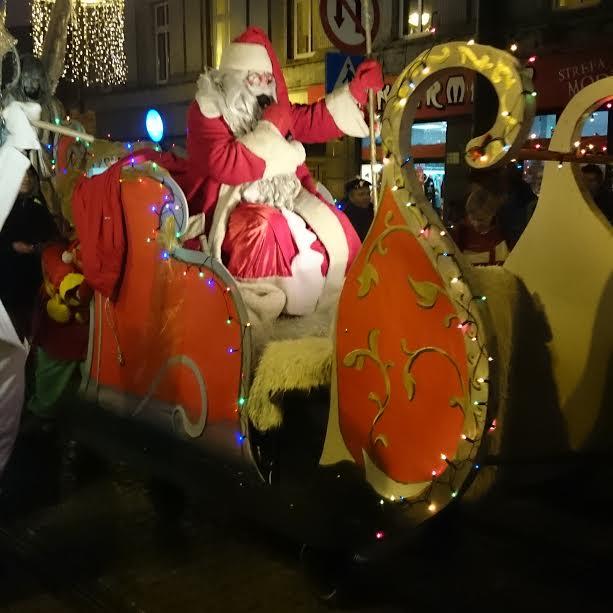 Zabrze świty Mikołaj przybywa do miasta