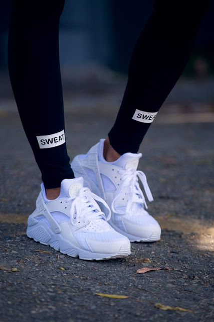 White Nike Huarache Sneakers via Pinterest