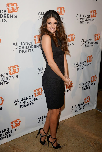 Selena Gomez in a little black dress at the Alliance for Children's Rights Dinner