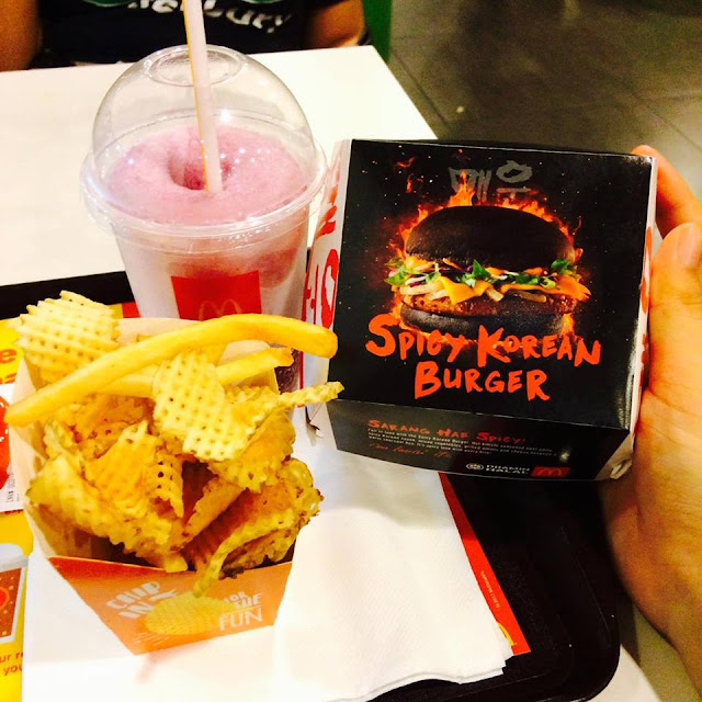 spicy korean burger, spicy korean burger mcdonalds, mcd, mc donalds malaysia, burger viral