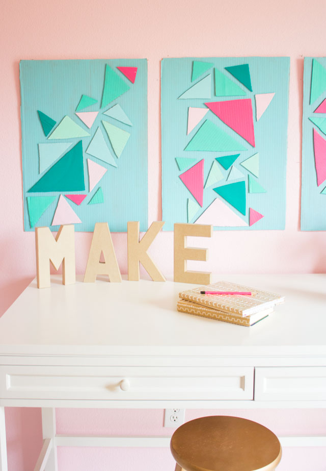 Simple How to turn a cardboard box into wall art