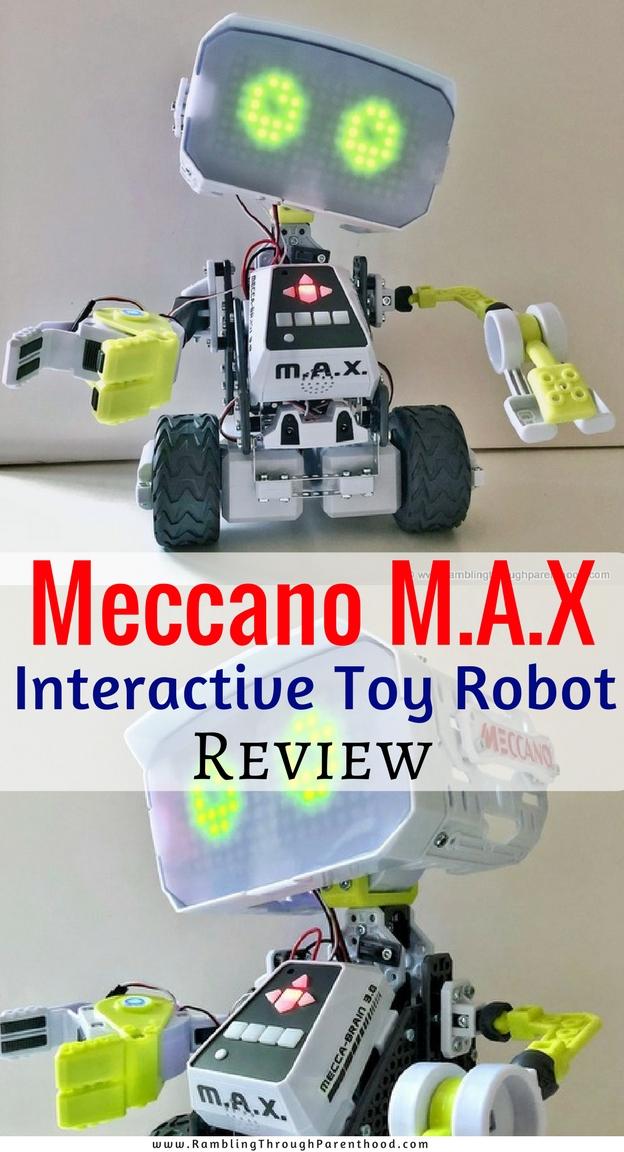 rambling through parenthood meccano m a x the interactive toy meccano m a x the interactive toy robot review