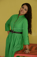 Geethanjali in Green Dress at Mixture Potlam Movie Pressmeet March 2017 028.JPG