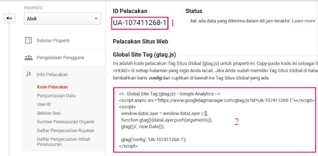 Cara Mendaftar Dan Memasang Google Analytics Di Blog 6