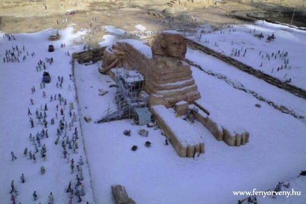 112 év után ismét havazott Kairóban