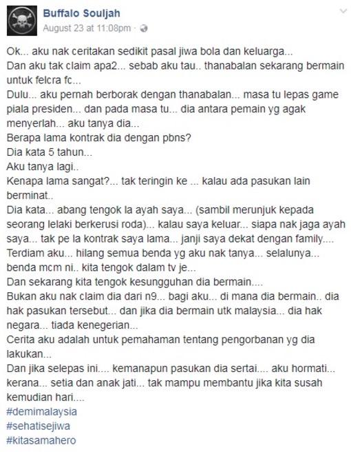 Kisah Sedih N. Thanabalan
