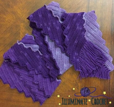 Illuminate Crochet Free Crochet Pattern Ombre Lightning Scarf