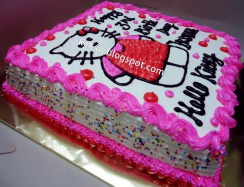 Kek4u Homemade Cakes And Chocolate Kek Hello Kitty