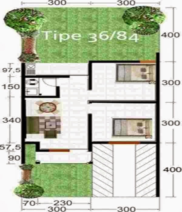 Desain Rumah 8X15 Untuk 3 Kamar Tidur 4