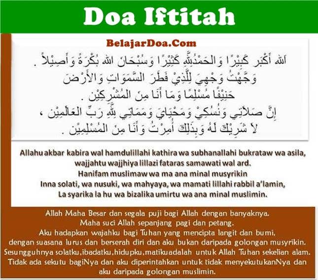 Lafal 3 Bacaan Doa Iftitah Dalam Sholat Sesuai Sunnah Bahasa Arab Latin dan Terjemahan Arti Indonesia
