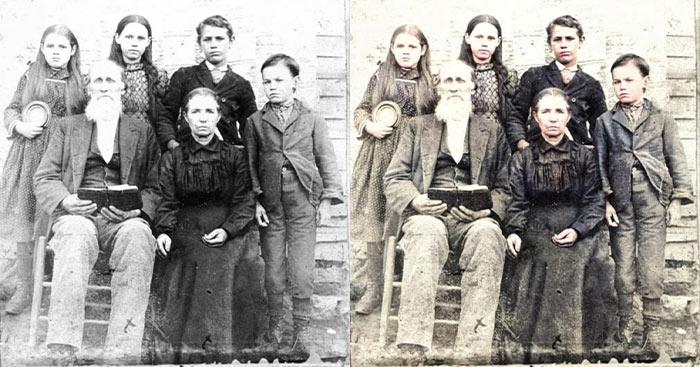 كيفية تحويل صور الأبيض و الأسود القديمة إلى صور ملونة و كأنها حديثة و بدون  برامج