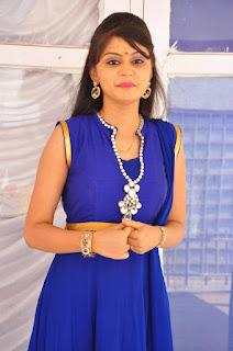 Actress Harisha Krishna Stills in Beautiful Blue Chudiddar  0011.jpg