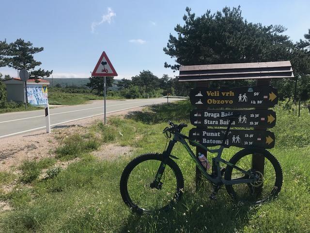 mountainbike tour auf den höchsten berg der insel krk kroatien obzova