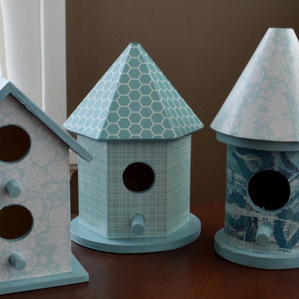 cozy birdhouse | papier mache birdhouses