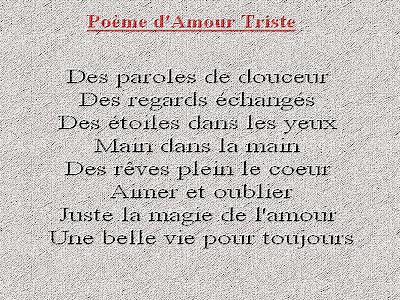 Triste Poemes Poemes Et Textes D Amour