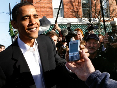 giving your phone to Obama