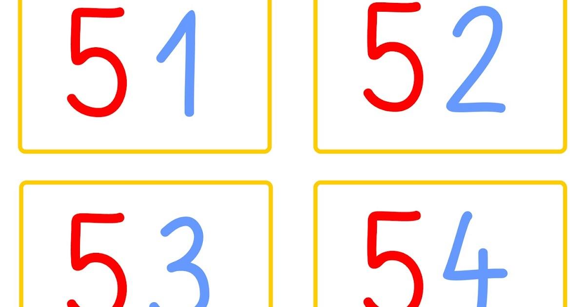 Zahlenkarten Bis 100