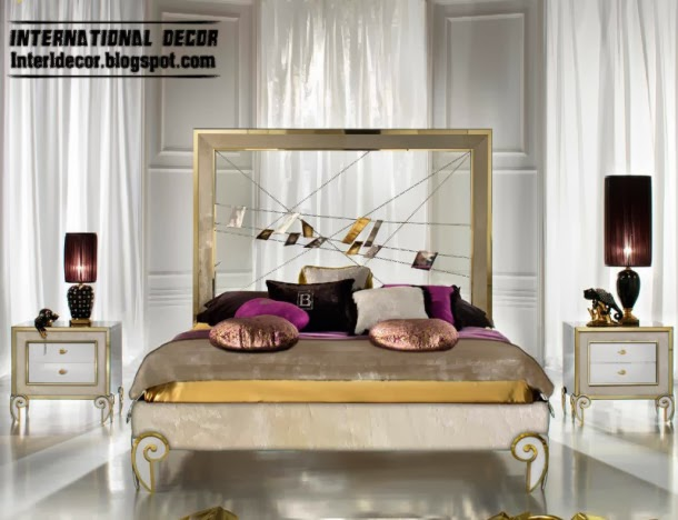 Creative Bed And Headboard Art Deco Style In Modern Interior